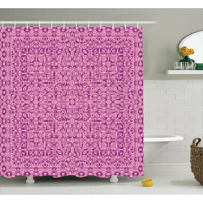 Avila Abstract Ethnic Indian Print Shower Curtain Size: 69 W x 84 L
