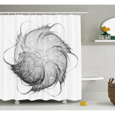 Bergeron Art Modern Fractal Shower Curtain Size: 69 W x 70 L