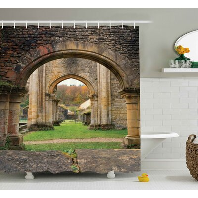 Bretta Autumn Ruins View Shower Curtain Size: 69 W x 75 L
