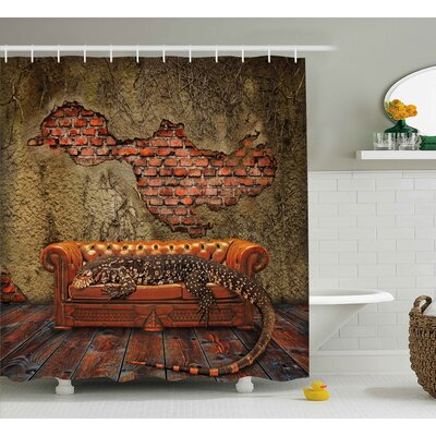 Fantasy Grunge Brick Wall Shower Curtain Size: 69 W x 70 L