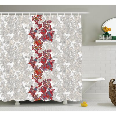 Armando Romantic Vibrant Boho Shower Curtain Size: 69 W x 84 L