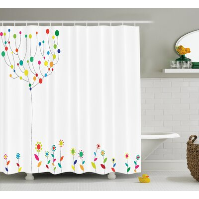 Lakeview Tree Branch Spring Buds Shower Curtain Size: 69 W x 75 L