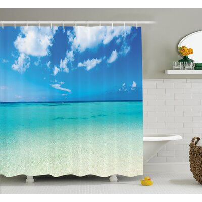 Faye Ocean Dreamy Sea Beach Shower Curtain Size: 69 W x 75 L