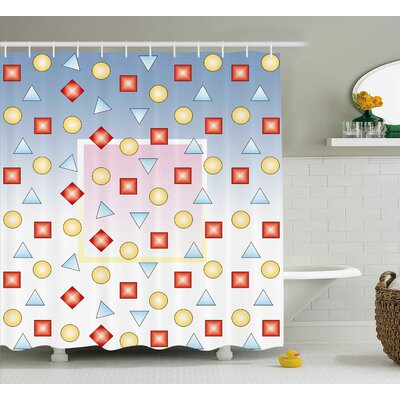 Holden Graphic Shape Square Print Shower Curtain Size: 69 W x 75 L