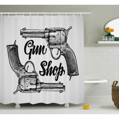 Western Cowboys from Texas Shower Curtain Size: 69 W x 84 L