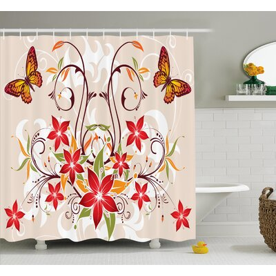 Madison Blossoms Bouquet Botany Shower Curtain Size: 69 W x 84 L