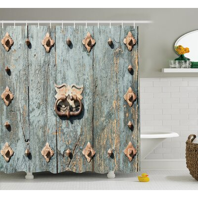 Gothic European Church Door Shower Curtain Size: 69 W x 84 L