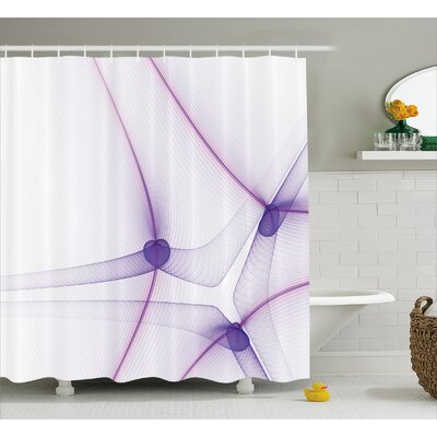 Camile Art Unique Modern Shower Curtain Size: 69 W x 75 L