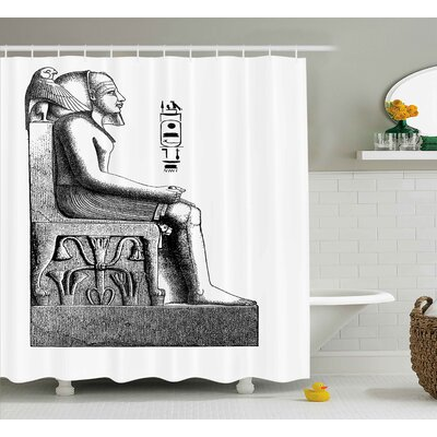 Anjali Antique Hawk and Bird Shower Curtain Size: 69 W x 75 L