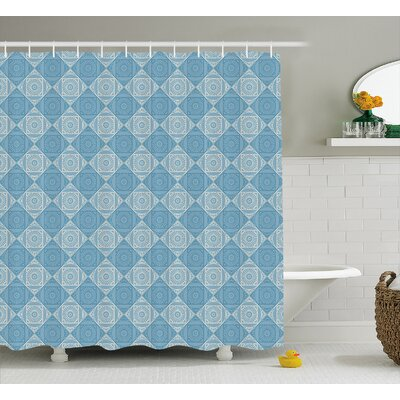 Beals Ethnic Egyptian Form Shower Curtain Size: 69 W x 75 L