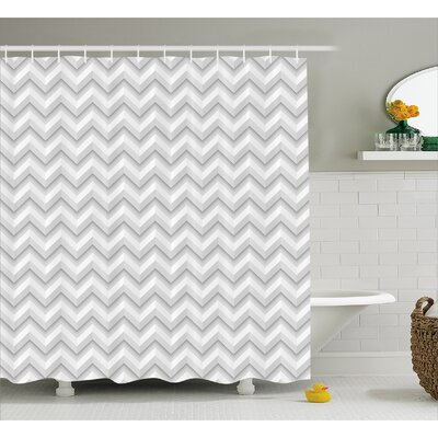 Bergan Zig Zag Chevron Motif Shower Curtain Size: 69 W x 75 L