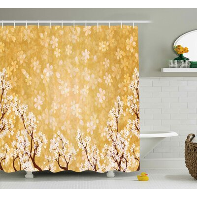 Jamal Trees Blossom Shower Curtain Size: 69 W x 84 L