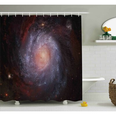 Stardust View in Space Shower Curtain Size: 69 W x 75 L