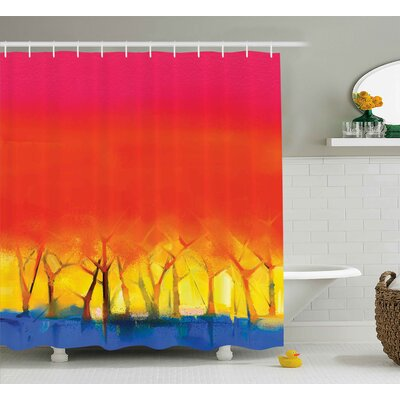 Imala Colorful Abstract Tree Shower Curtain Size: 69 W x 84 L