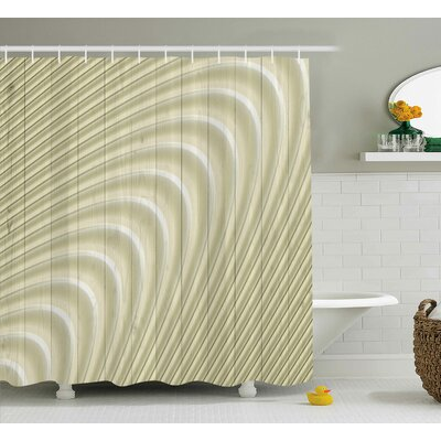 Hobbs Futuristic Spheric Disc Print Shower Curtain Size: 69 W x 84 L
