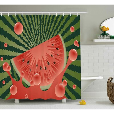 Summer Vegetarian Garden Health Shower Curtain Size: 69 W x 84 L