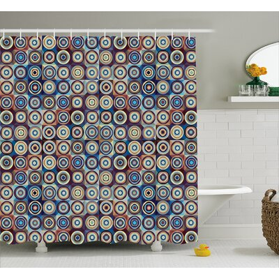 Burkett Ring Formed Circles Shower Curtain Size: 69 W x 70 L