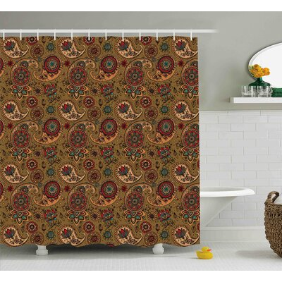 Bautista Vintage Authentic Decor Shower Curtain Size: 69 W x 75 L