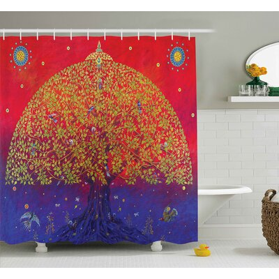 Artemas Ethnic Eastern Decor Shower Curtain Size: 69 W x 70 L