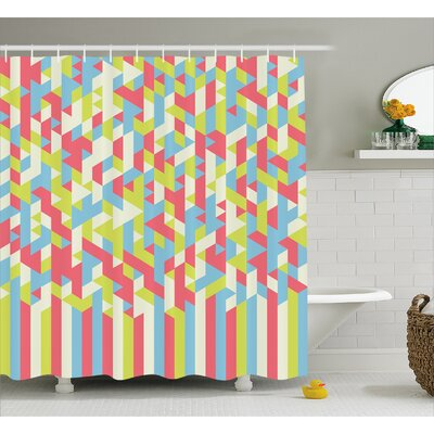 Beresford Psychedelic Gradient Shower Curtain Size: 69