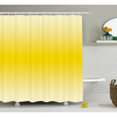 Fred Sunny Summer Themed Art Shower Curtain Size: 69 W x 84 L