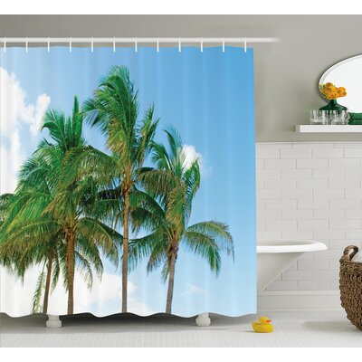 Tropical Exotic Idyllic Nature Shower Curtain Size: 69 W x 75 L