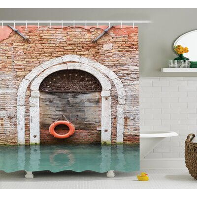 Italian Historical Venice Decor Shower Curtain Size: 69 W x 75 L
