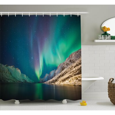 Nature Mystical Northern Lights Shower Curtain Size: 69 W x 75 L
