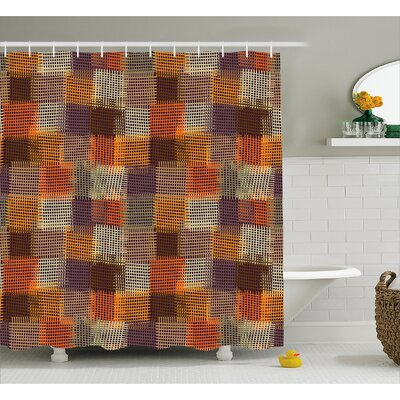 Atticus Digital Grunge Decor Shower Curtain Size: 69 W x 84 L