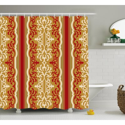 Arnots Middle East Swirl Motif Shower Curtain Size: 69 W x 84 L