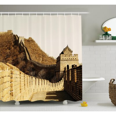 China Ancient Stones Mountain Shower Curtain Size: 69 W x 70 L
