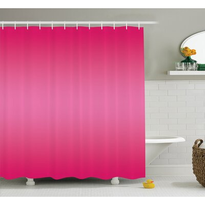 Fred Modern Pink Room Design Shower Curtain Size: 69 W x 70 L