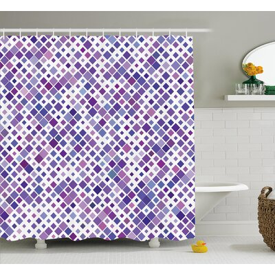 Berlanga Purple Retro Artsy Shower Curtain Size: 69 W x 75 L