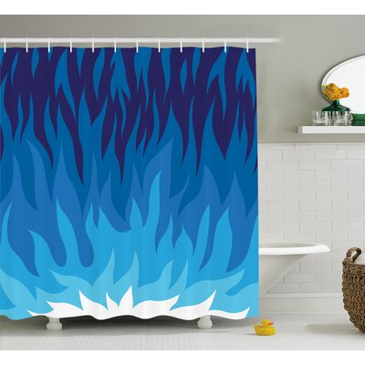 Sharon Abstract Gas Flame Fire Shower Curtain Size: 69