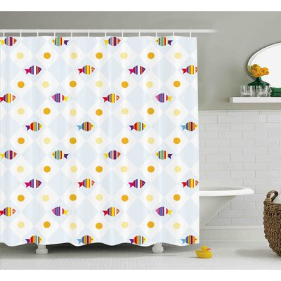 Juliana Fish Juliana with Spots Shower Curtain Size: 69 W x 70 L