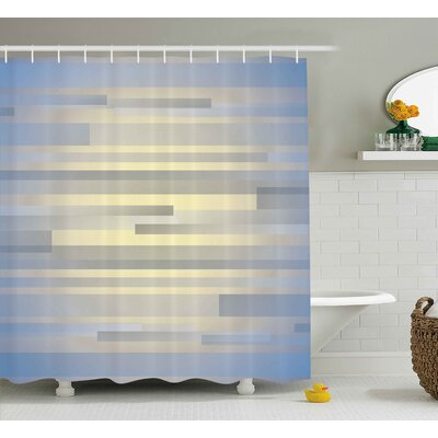 Enrique Long Striped Forms Shower Curtain Size: 69 W x 70 L