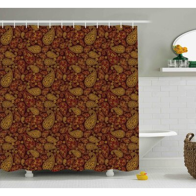 Bautista Oriental Damask Decor Shower Curtain Size: 69 W x 70 L
