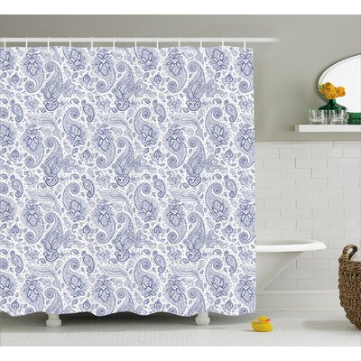 Quarryville Abstract Buds and Dots Shower Curtain Size: 69 W x 84 L