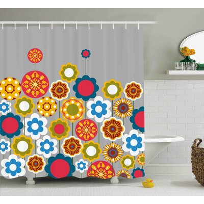 Faviola Modern Colourful Summer Shower Curtain EBND3843 39392820