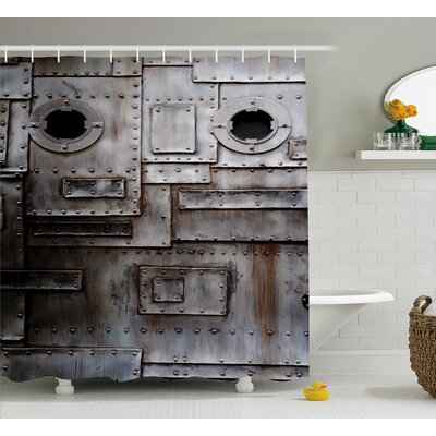Alonso Rusty Grunge Retro Shower Curtain Size: 69 W x 70 L