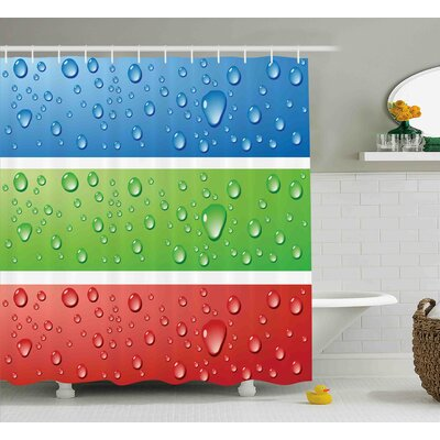Frankie Water Drops on a Plastic Shower Curtain Size: 69 W x 70 L
