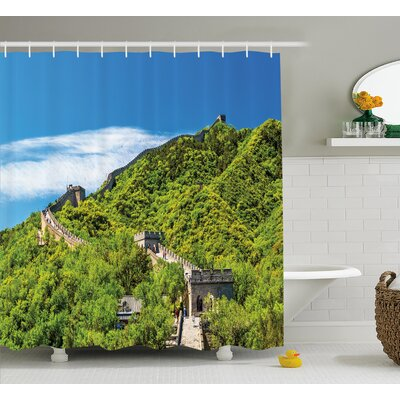 View Chinese Nature Panorama Shower Curtain Size: 69 W x 75 L