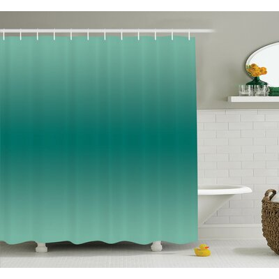 Fabiola Ocean Waves Theme Decor Shower Curtain Size: 69 W x 75 L