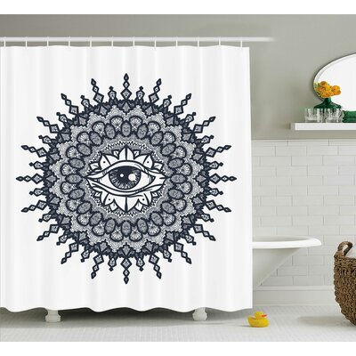 Dayne Traditional Mandala Art Shower Curtain Size: 69 W x 84 L