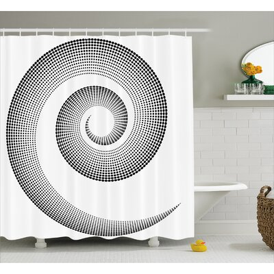 Black Surreal Monochrome Art Shower Curtain Size: 69 W x 75 L