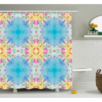 Corvin Kaleidoscopic Design Shower Curtain Size: 69 W x 70 L