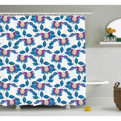 Coyne Vibrant Vintage Shabby Shower Curtain Size: 69 W x 75 L