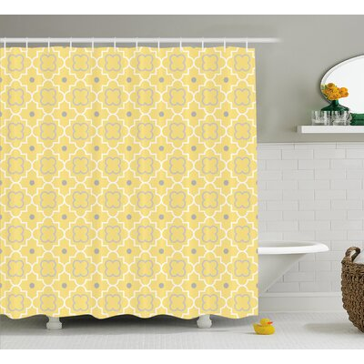 Baudoin Pattern with Moroccan Print Shower Curtain Size: 69 W x 84 L