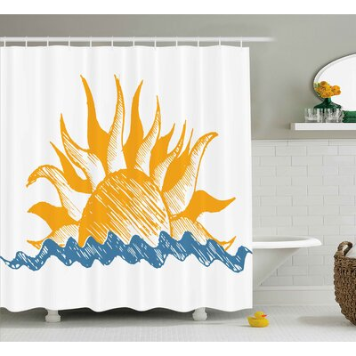 Brettany Sun and Fire like Beams Shower Curtain Size: 69 W x 75 L