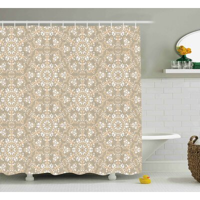 Courtenay Antique Roman Decoration Shower Curtain Size: 69 W x 70 L